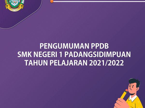 Pengumuman Hasil Seleksi PPDB 2021